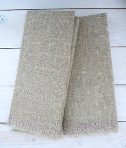 Image of Rustic Linen Towel - set of two