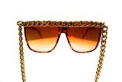 Image of FEATURED ITEM: Ghetto Famous Brown CHAIN SUNGLASSES