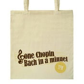 Image of Gone Chopin tote bag
