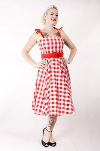 Image of 'Angelique' dress - Red and White Gingham