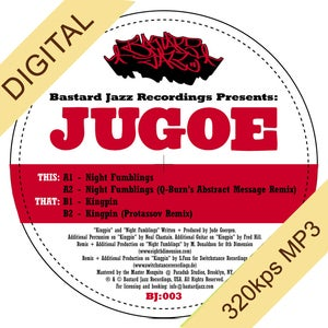 "Image of Jugoe - Night Fumblings/Kingpin 12"" (Vinyl Sold Out - Digital Only)"