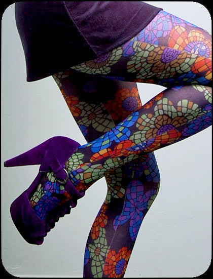 pretty please dear — mosaic tights