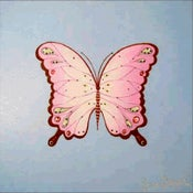 "Image of Royal Butterfly on Blue 12"" x 12"""