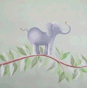 "Image of Elephant On A Vine 18"" x 18"""