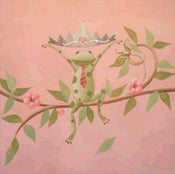 "Image of Mordechai the Frog Prince 18"" x 18"""