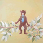 "Image of Li'l Paco the Bear 18"" x 18"""