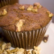 Image of banana nut muffin