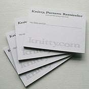 Image of Knitty Pattern Reminder Post-it Notes [4 pads]