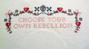 Image of Choose Your Own Rebellion Cross Stitch E-Pattern by LoungeKat and Radical Cross Stitch