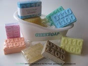 http://www.geeksoap.net/ Some of the best Geek-themed hand-crafted soaps one can purchase legally.
