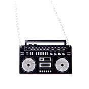 Image of boombox ghetto blaster necklace