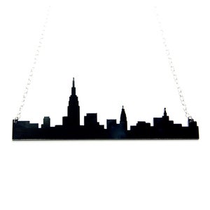 Image of new york city skyline necklace