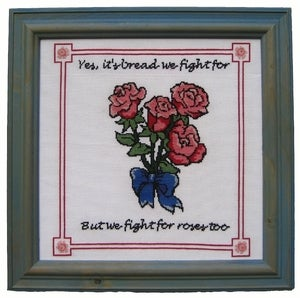 Image of Bread and Roses E-Pattern from Radical Cross Stitch