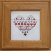 Image of Anti-Patriarchy framed Radical Cross Stitch original