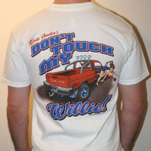Image of White Don't Touch My Willie Men's T-Shirt / SMALL ONLY