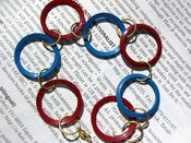Image of Red and Blue Circle Bracelet