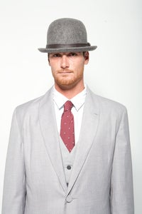 Image of The DROOG Bowler - Heather Grey / Black
