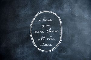 Image of dotted garland &amp; all the stars cursive