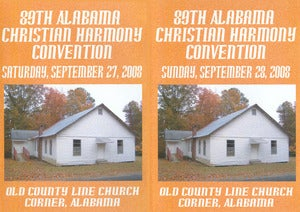 Image of 89th Alabama Christian Harmony Convention Combo Set - Saturday &amp; Sunday - 6 CD set