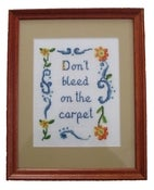 Image of Don't Bleed On The Carpet E-Pattern from Radical Cross Stitch