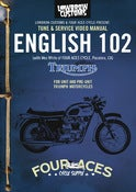 Image of English 102, DVD Workshop Manual  IN STOCK!!