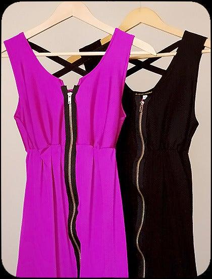 pretty please dear — rock n reconstruct - zipper dress