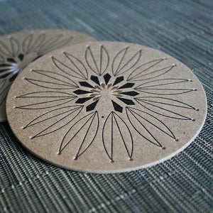 Image of Coaster III : Gold Rangoli | 8pk