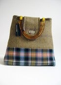 Image of Olive Tweed and Tartan 'Dr' Bag...