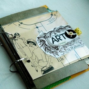 Image of Vintage Random Memories Art Journal