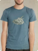 Image of Organic Men's Short Sleeve Tee-Machine in Ocean