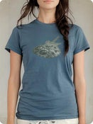 Image of Organic Women's Short Sleeve Tee- Machine in Ocean