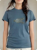 Image of Organic Women's Short Sleeve Tee-Headstock in Ocean