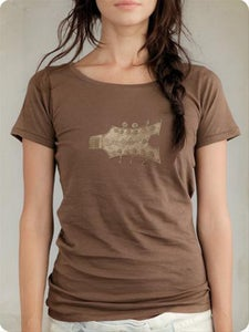 Image of Organic Women's Short Sleeve Tee-Headstock in Bark