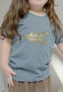 Image of Organic Toddler Short Sleeve Crew in Earth Ocean