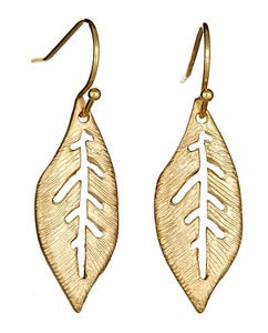 Image of Gold Leaf Earrings
