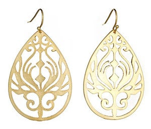 Image of Gold Peacock Earrings