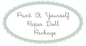 Image of Print It Yourself Paper Doll Package