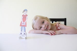 Image of Print It Yourself Paper Doll A La Cart