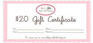 Image of  Gift Certificate - 20 USD