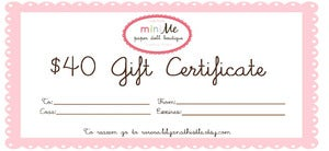 Image of Gift Certificate 40 USD