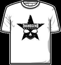Image of TRANSCEND RECORDS - Black Star T-Shirt (White)