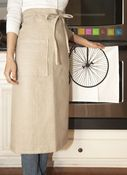 Image of Linen Garcon Apron- Natural