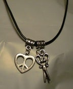 Image of Peace, Love & Haircuts Necklace