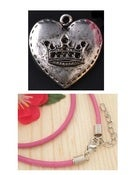 "Image of ""Royal Love"" Pink Necklace (supports Susan G. Koman)"