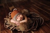 Image of Face Framing Baby Bear Beanie Newborn Prop