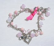 Image of Tiara Charms - Pink Hearts & Ribbon