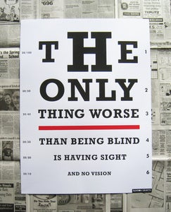 Image of Vision Test Poster