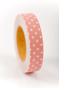 Image of 1 pk fabric tape - polka dots - chloe - FT010