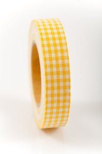 Image of 1 pk fabric tape - mini check - lemon bar - FT017