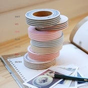 Image of 1 pk fabric tape - striped - 7 patterns - FT020